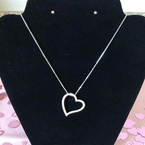 Swarovski Open Heart Pendant